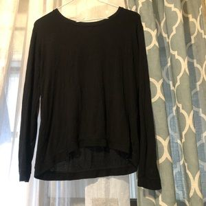 Zara long sleeve black shirt size Small